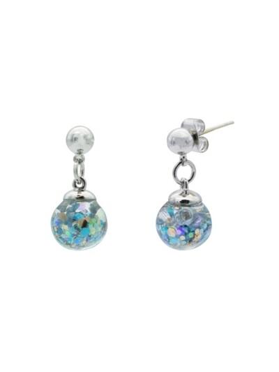 Luvin Drop Snowball Earrings