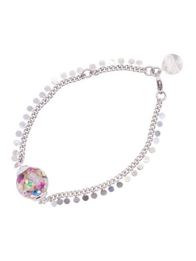 Surgical Steel Snowball Bracelet-Confetti
