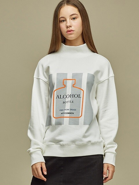 [SALE 60%] BOTTLE SWEATSHIRT WH