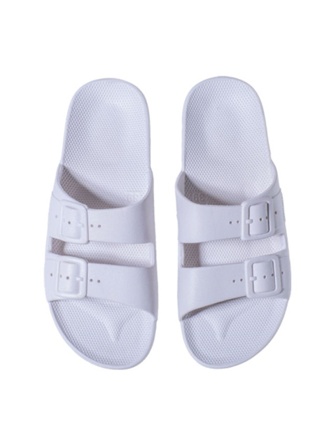 MOSES WOMEN FREEDOM SLIPPERS WHITE