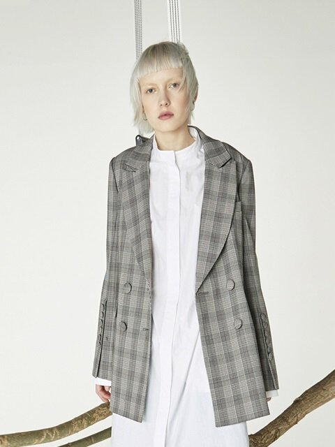 Slit sleeves jacket_Check