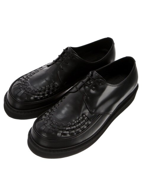 Matte Box Black Leather Creepers
