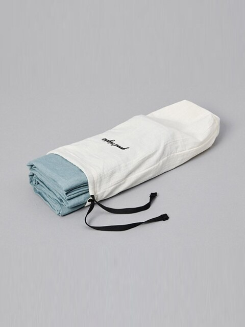 good night pouch+ pillow set _ grayish ocean blue