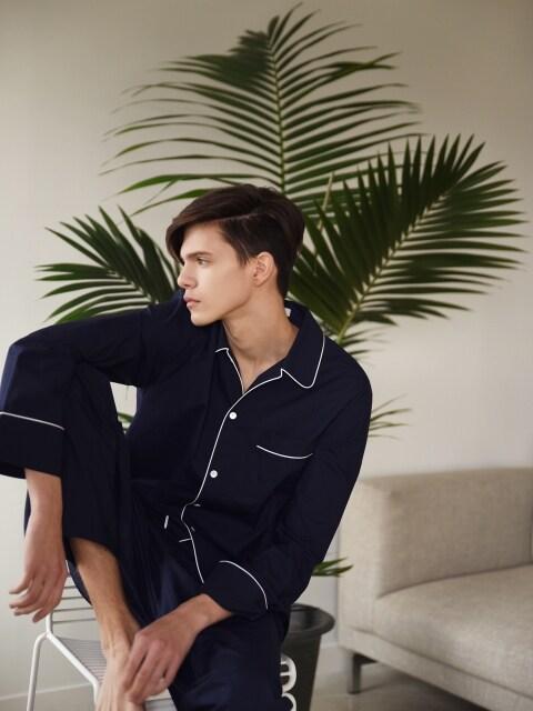 M Pajama Shirt  _ Navy