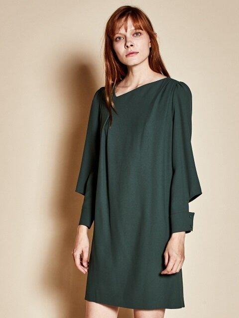 Open sleeve dress_green