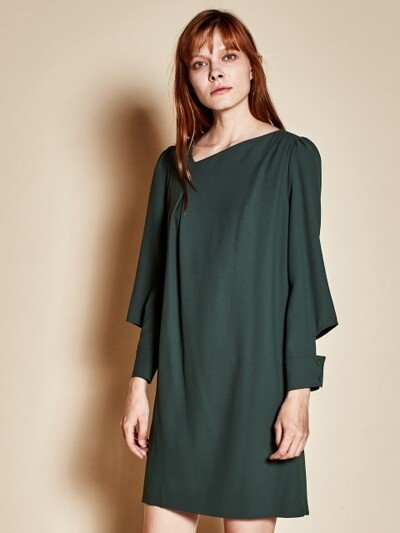 Open sleeve dress_green