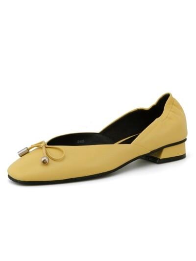 Anybody Anywhere Flat Shoes Yellow_0049