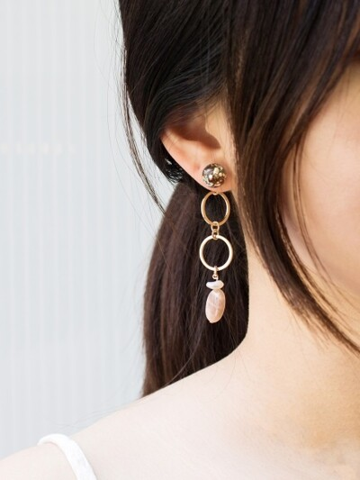 Snowball, Gemstone Drop Earrings 3