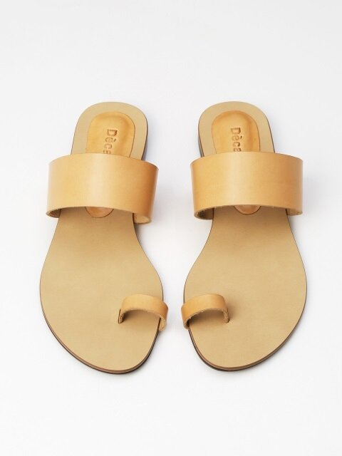 10mm Natural Leather sandal (Natural)