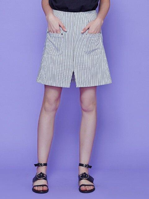 pocket stripe skirt