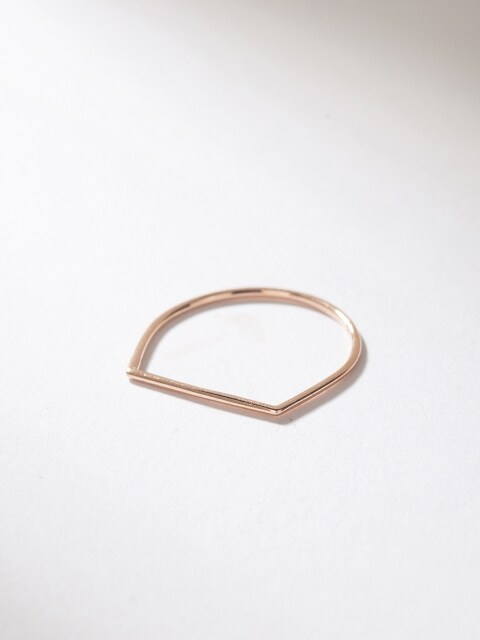 [14K] SIMPLE D LINE RING