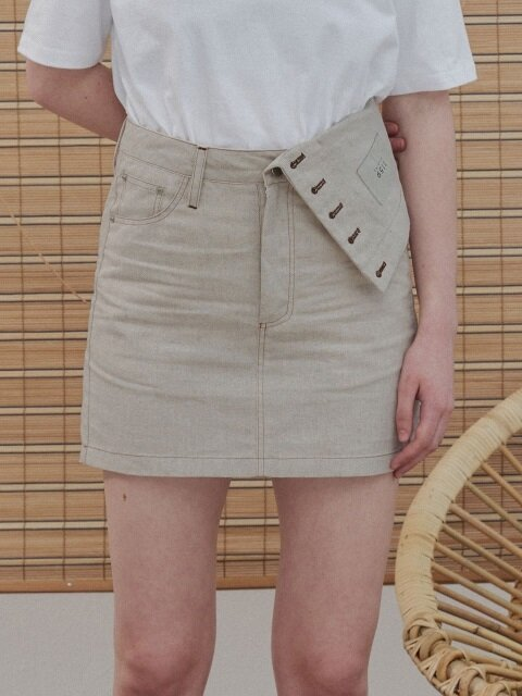 MH6 LINEN INSIDEOUT SKIRT_BE
