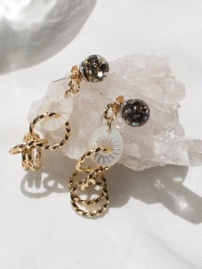 Snowball, Gemstone Drop Earrings 2