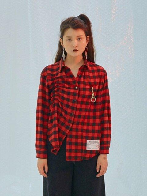 Baby Scoff Check Shirts [Red]