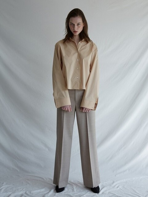 TWO WAY OPEN SHIRTS [beige]