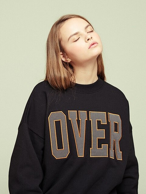 [15% SALE, 예약순차배송] OVER SWEATSHIRT BK