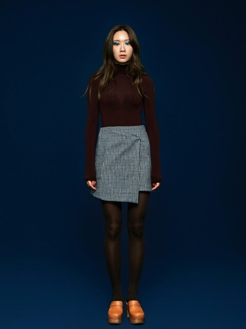 Wrap Mini Skirt in Grey