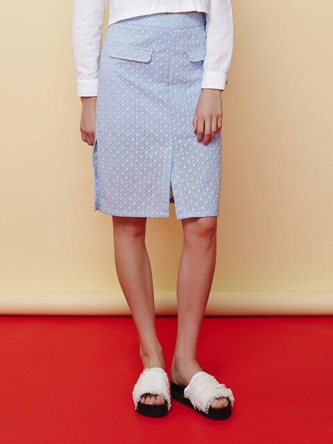 lace slit skirt