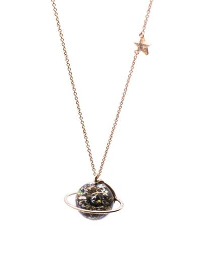 Marvelous Universe Snowball Necklace(L)