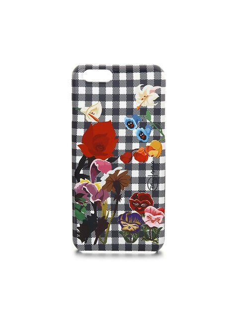 [Disney│high cheeks]Garden Flower Check Phone Case