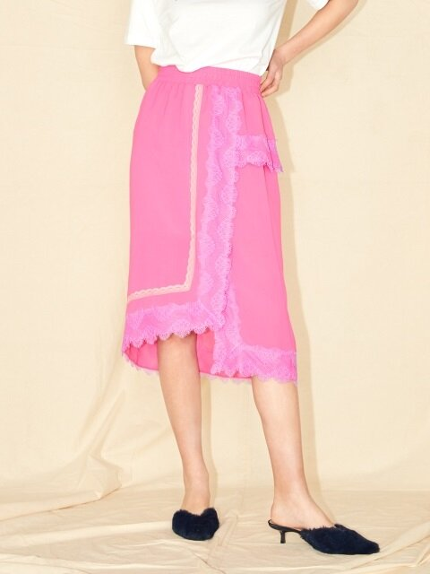 LACE SKIRT_PINK/BLUE