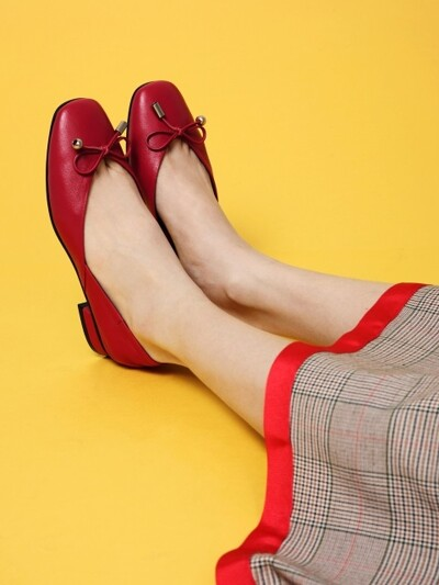 Anybody Anywhere Flat Shoes Red_0049