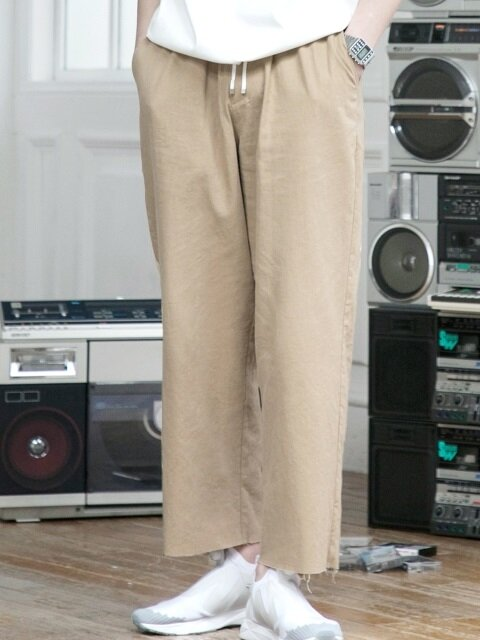 LINEN STRING PANTS BEIGE