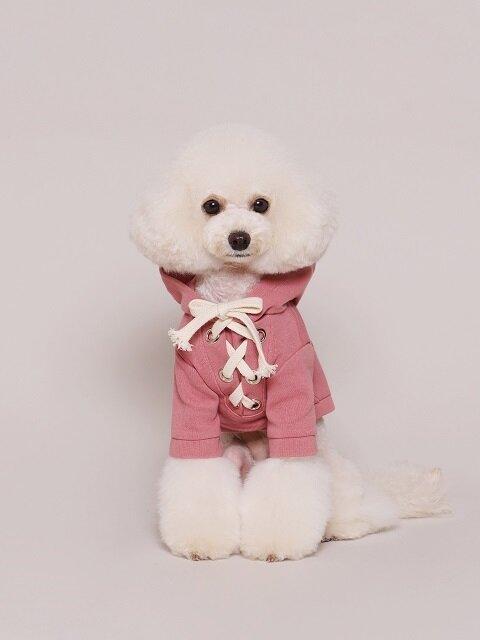 Eyelet Ribbon Hood Pink
