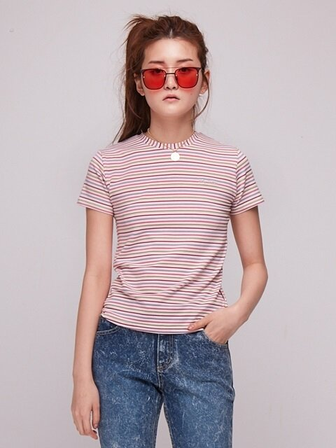Baby Candy Stripe T-Shirt [LIGHT PINK]