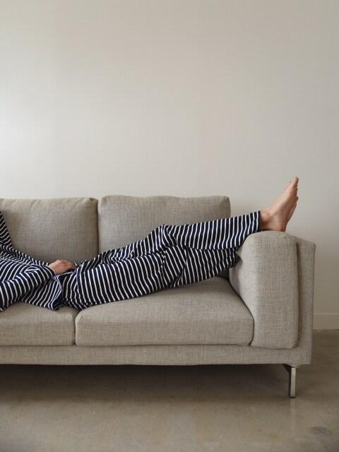 M Pajama Pants _ Jersey Navy stripe