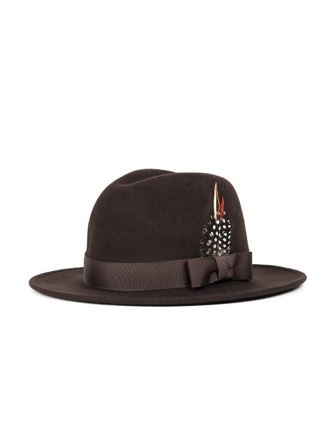 WOOL FEDORA (brown)