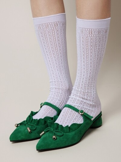 It's Adorable Mules Emerald Green_R0048