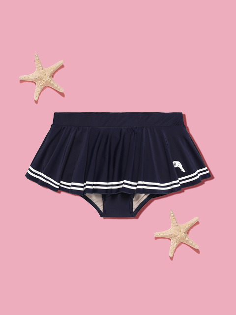 (PT-18375)MARINE SKIRT PANTS NAVY