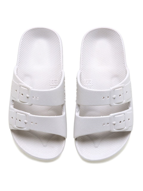 MOSES KIDS FREEDOM SLIPPERS WHITE