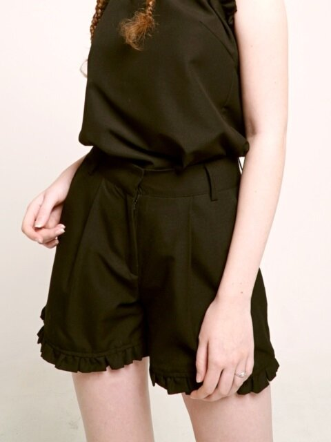 Shirring Shorts : Black