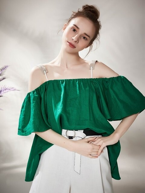 Vivid String Linen Off Shoulder