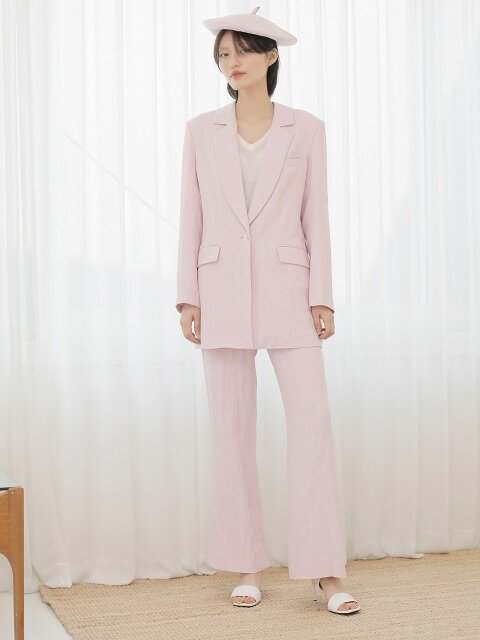 18SS COLLAR SLIT LINEN JACKET