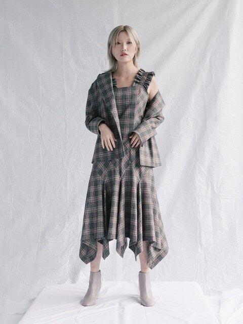 Multi-check Impessionist Dress (TCFOP05)