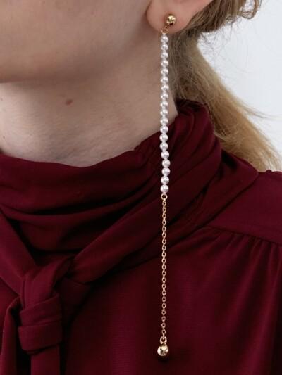 Long Pearl Single Earring