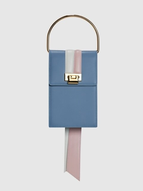 TIMETAIL MINI in Italin Leather (CANDY BLUE)