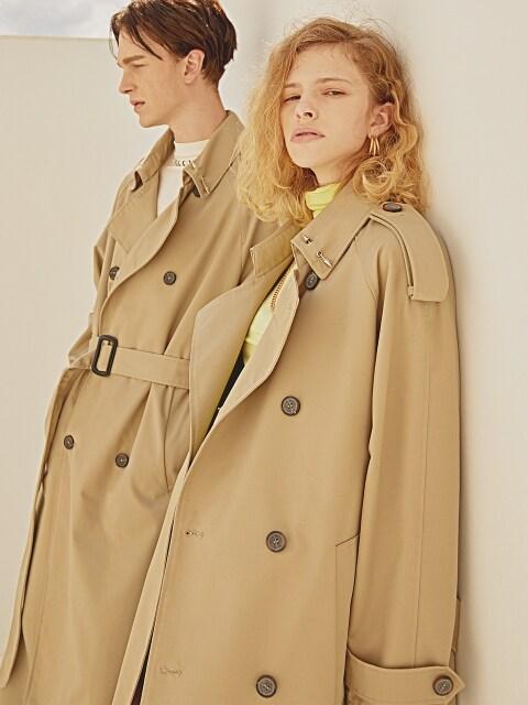 [이준기, 나르샤, 이준, 차은우, 윤상현, 브라이언착용] TIMELESS OVERFIT TRENCH COAT(Beige)