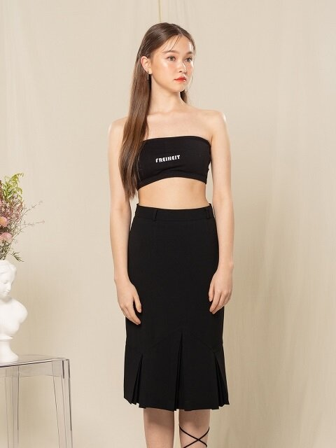 PLEATS SKIRT (BLACK)