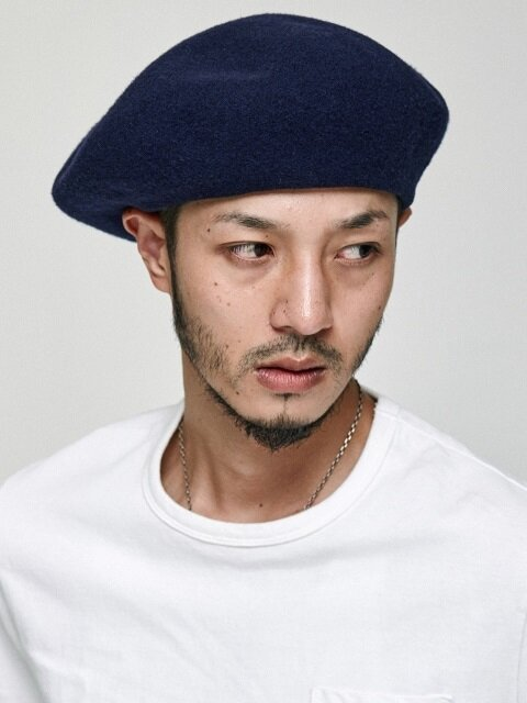 OVER SIZE BERET [NAVY]