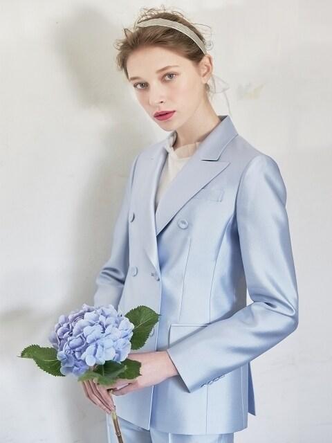 [Ceremony l D7AMA5004M/LB] Bianca Mikado Slik Double Jacket