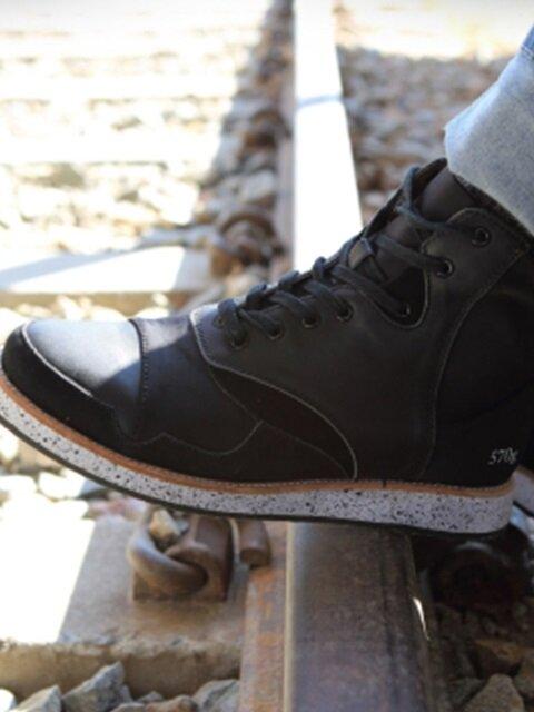 [윤균상 착화] 570g black leather neoprene