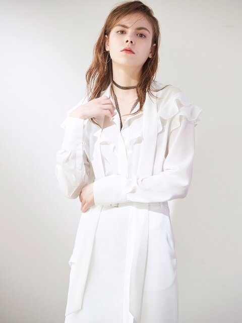 PUSSY BOW BLOUSE WHITE