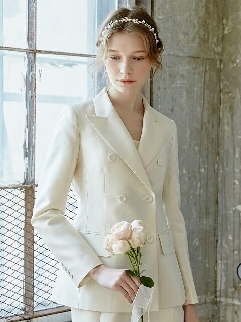 [Ceremony l D7AMA5004M/IV] Bianca Mikado Slik Double Jacket