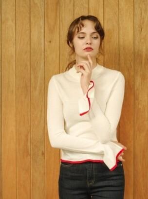 [�ܵ�]monts206 sleeve slit ivory knit (2color)