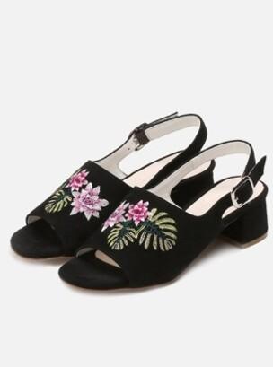 Monstera Flower Black 3301-1 (Lamb suede)