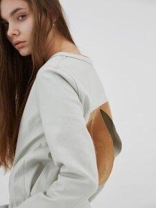 STEEP CUT mint woven 긴팔 티셔츠